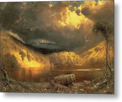 Stormy Skies Above Echo Lake White Mountains  Metal Print by Fairman California