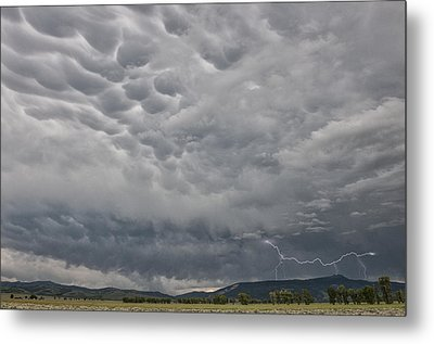 Metal Print featuring the photograph Stormy Skies In Wyoming by Sandra Bronstein