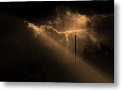 Stormy Sky And Light Metal Print by Martin Morehead