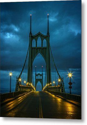 Stormy St. Johns Metal Print by Wes and Dotty Weber
