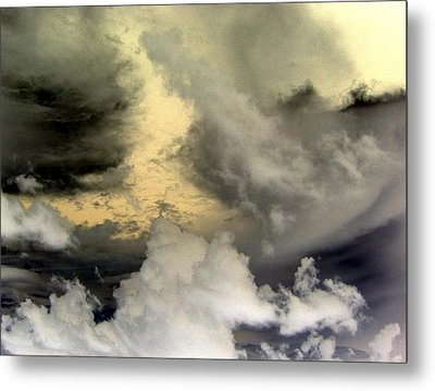 Stormy Story Metal Print by Betsy Jones
