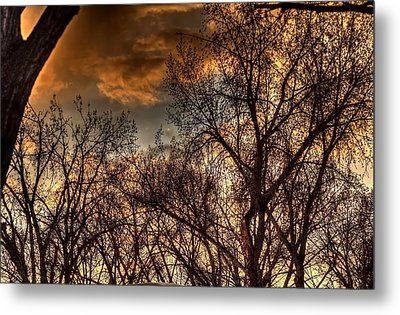 Stormy Sunset 14151 Metal Print by Jerry Sodorff