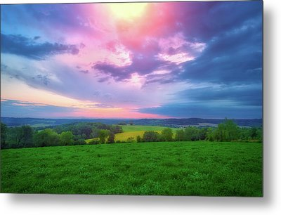Stormy Sunset At Retzer Nature Center Metal Print by Jennifer Rondinelli Reilly - Fine Art Photography