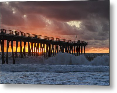 Stormy Sunset Metal Print by Ed Clark