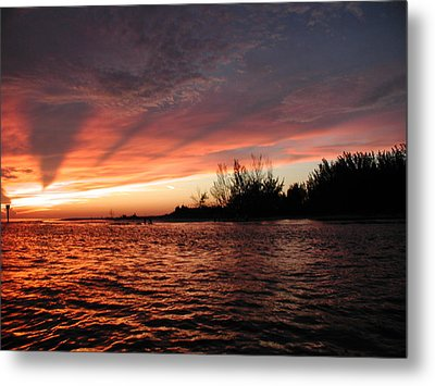 Metal Print featuring the photograph Stormy Sunset by Nancy Taylor