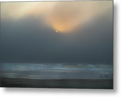 Metal Print featuring the photograph Stormy Sunset Oregon Coast by Yulia Kazansky