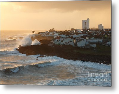Stormy Weather In Azores Metal Print