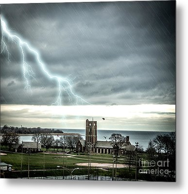 Stormy Wednesday Over Chicago Metal Print