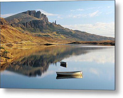 Metal Print featuring the photograph Storr Reflection by Grant Glendinning