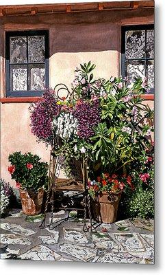 Storybook Cottage Carmel Metal Print by David Lloyd Glover