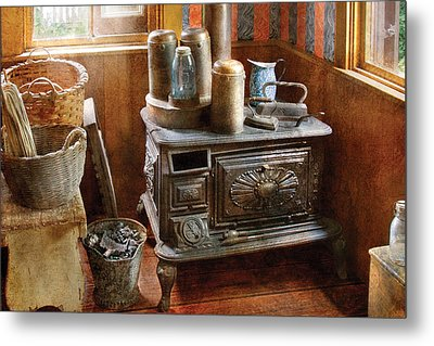Stove - Remember The Good Ol Days When  Metal Print by Mike Savad