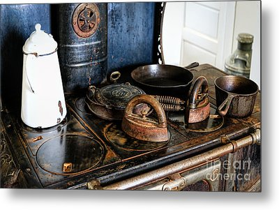 Stove Top Cooking Metal Print