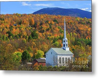 Stowe Community Church, Vermont Metal Print