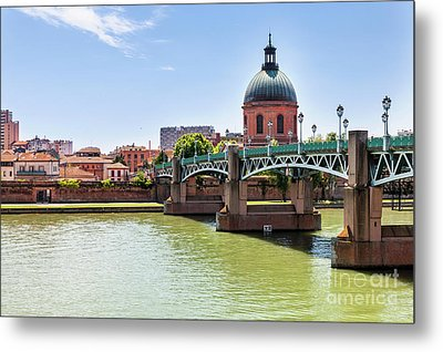 St.pierre Bridge In Toulouse Metal Print by Elena Elisseeva