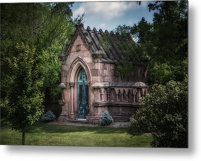 Strader Mausoleum Metal Print by Tom Mc Nemar