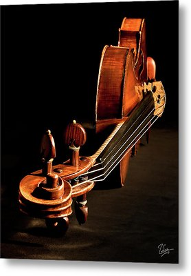 Metal Print featuring the photograph Stradivarius From The Top by Endre Balogh