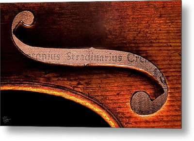 Metal Print featuring the photograph Stradivarius Label by Endre Balogh