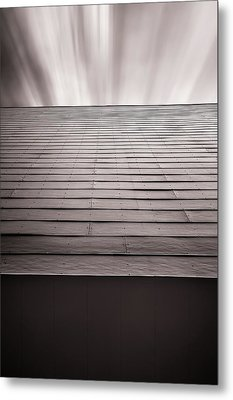 Straight Line Above Metal Print by Scott Norris
