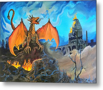 Straight To The Casttttle Metal Print by Kevin F Heuman