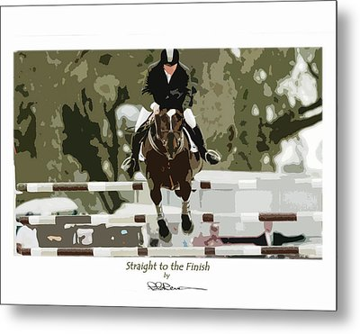Straight To The Finish Metal Print
