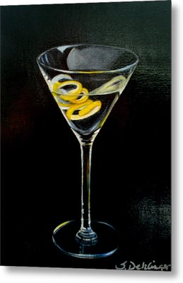 Metal Print featuring the painting Straight Up And Twisted by Susan Dehlinger