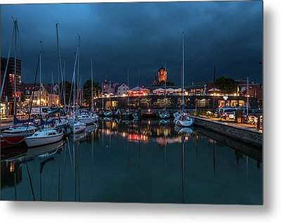 Stralsund At The Habor Metal Print by Martina Thompson
