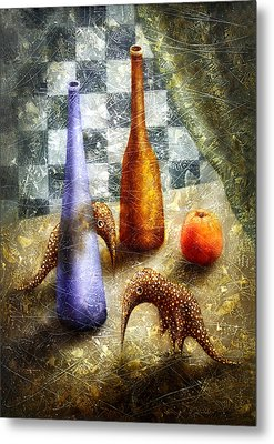 Strange Games On The Table Metal Print