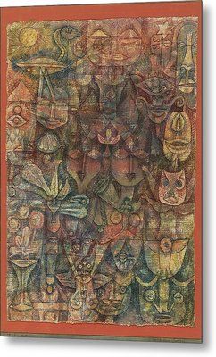 Strange Garden Metal Print by Paul Klee