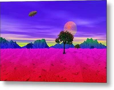 Strangely Place Metal Print by Mark Blauhoefer