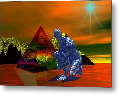 Metal Print featuring the digital art Stranger In A Strange Land by Shadowlea Is