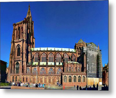 Metal Print featuring the photograph Strasbourg Catheral by Alan Toepfer