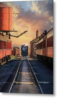 Metal Print featuring the photograph Strasburg Railroad Station by Lori Deiter