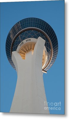 Stratosphere Tower Up Close Metal Print by Andy Smy