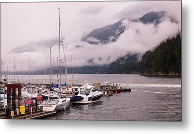 Stratus Clouds Over Horseshoe Bay Metal Print