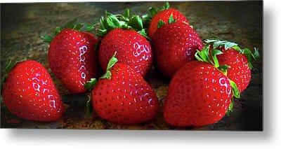 Strawberries Metal Print by Eileen Blair