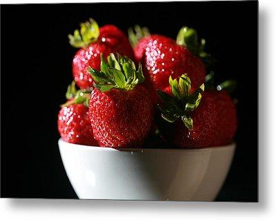 Strawberries  Metal Print by Michael Ledray