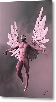 Strawberry Angel Metal Print by Joaquin Abella