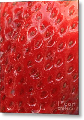 Strawberry Closeup Metal Print by Carol Groenen