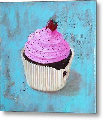 Strawberry Delight Metal Print by T Fry-Green