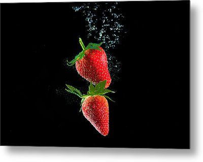 Strawberry Falls Metal Print