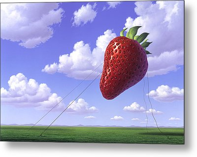 Strawberry Field Metal Print