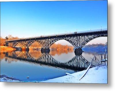 Strawberry Mansion Bridge  Metal Print by Bill Cannon