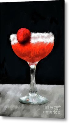 Metal Print featuring the photograph Strawberry Margarita by Lois Bryan