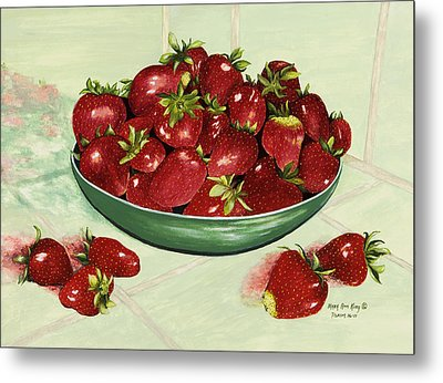 Strawberry Memories Metal Print