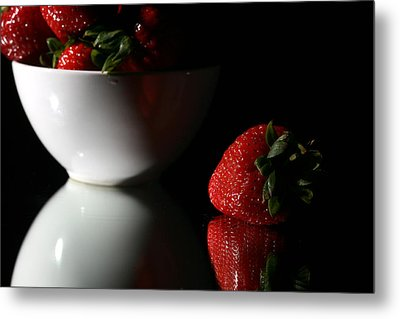 Strawberry Metal Print by Michael Ledray