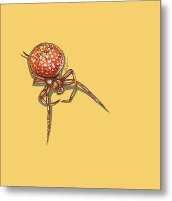 Strawberry Spider Metal Print by Jude Labuszewski