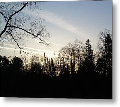 Metal Print featuring the photograph Streaks Of Clouds In The Dawn Sky by Kent Lorentzen