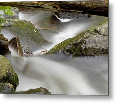 Stream In Motion Metal Print by Jim DeLillo