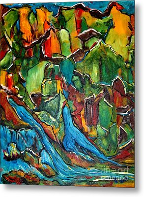 Streams In The Wilderness Metal Print by Chaline Ouellet