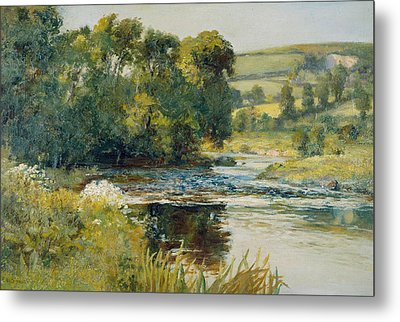 Streamside Metal Print by Edward Mitchell Bannister